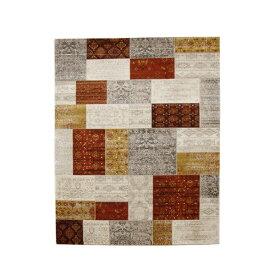 トルコ製 ウィルトン織り カーペット 絨毯 『キエフ RUG』 オレンジ 約200×250cm【日時指定不可】