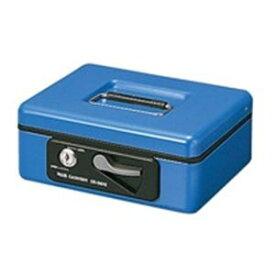 プラス 手提げ金庫/セーフティーボックス 【小型】 コンパクト 軽量 シリンダー錠付き CB-060G ブルー(青)【日時指定不可】