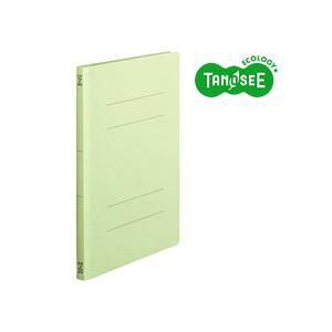 (まとめ)TANOSEE フラットファイル バインダー 2穴 <スタンダードカラー>A4タテ 150枚収容 緑 10冊入×20パック【日時指定不可】