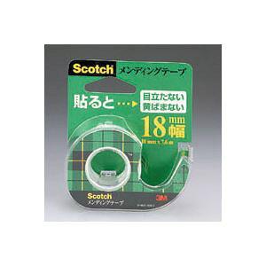 (まとめ) 住友スリーエム スコッチ(R)メンディングテープ (小巻)テープカッター付き 巻芯径25mm CM-18 1個入 【×20セット】【×20セット】【日時指定不可】