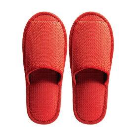 (まとめ) TANOSEE 外縫いスリッパ ラドクリフ オレンジ 1足 【×5セット】【日時指定不可】