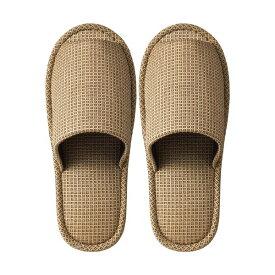 (まとめ) TANOSEE 外縫いスリッパ ラドクリフ ベージュ 1足 【×5セット】【日時指定不可】