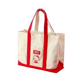 HeLLo Kitty ハローキティ エコエコトートバッグ/鞄 【レッド/赤】 綿使用 裏面ノープリント【日時指定不可】