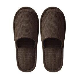 (まとめ) TANOSEE 外縫いスリッパ ラドクリフ ブラウン 1足 【×5セット】【日時指定不可】