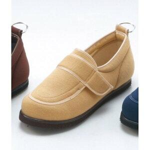 介護靴/リハビリシューズ ベージュ LK-1(外履き) 【片足23cm】 3E 左右同形状 手洗い可/撥水 (歩行補助用品) 日本製【日時指定不可】