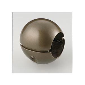 【10個セット】階段手すり滑り止め 『どこでもグリップ』ボール形 亜鉛合金 直径38mm アンバー シロクマ 日本製【日時指定不可】