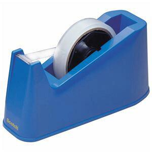 (まとめ) 3M スコッチ デスクディスペンサー ブルー C-3-J-BLUE 1台 【×10セット】【日時指定不可】