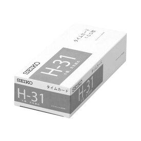 (まとめ) セイコープレシジョン セイコー用片面タイムカード 月末締 6欄印字 CA-H31 1パック(100枚) 【×10セット】【日時指定不可】