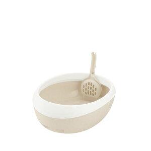 (まとめ)ラプレ ネコトイレ S ホワイト (ペット用品) (×5セット)【日時指定不可】