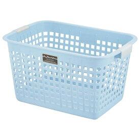 (まとめ) ニューキングバスケット/収納かご 【ブルー】 持ち手付き 洗濯かご おもちゃ収納 クローゼット収納 【16個セット】【日時指定不可】