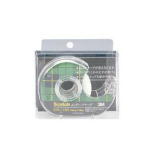 (まとめ) 3M スコッチ メンディングテープ 810 小巻 18mm×30m ディスペンサー付 クリアケース入 810-1-18D 1個 【×30セット】【日時指定不可】