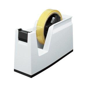 (まとめ) コクヨ テープカッター カルカット 大巻・小巻両用 白 T-SM100W 1台 【×10セット】【日時指定不可】
