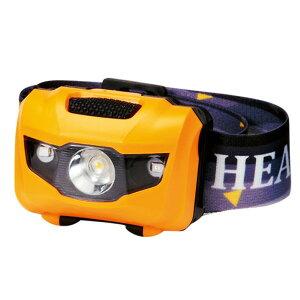 マルチ ヘッドライト/照明器具 【イエロー 100個セット】 ライト:4パターン切替可 〔防災 アウトドア 暗所作業〕【日時指定不可】