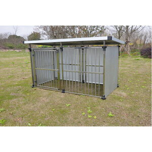 ドッグハウス DFS-M1 (0.5坪タイプ屋外用犬小屋) 中型犬 大型犬 犬小屋 ステンレス製【代引不可】【日時指定不可】