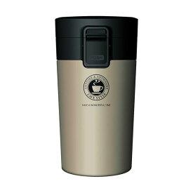 真空断熱 タンブラー/水筒 【シャンパンゴールド】 290ml 洗える ワンプッシュオープン ロック付き 『アスベル』 〔スポーツ〕【日時指定不可】