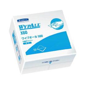 (まとめ)日本製紙クレシア ワイプオール X60 4ツ折り 60560【×10セット】【日時指定不可】