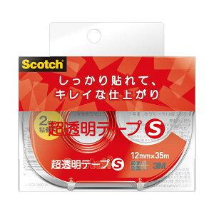 (まとめ) 3M スコッチ 超透明テープS 600小巻 12mm×35m ディスペンサー付 600-1-12DN 1個 【×30セット】【日時指定不可】