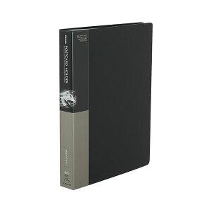 コクヨ ポストカードホルダー(固定式)A4タテ 200枚収容 ダークグレー ハセ-230NDM 1セット(4冊)【日時指定不可】