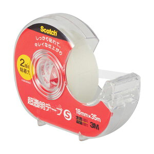 (まとめ) 3M スコッチ 超透明テープS 600小巻 18mm×35m ディスペンサー付 600-1-18DN 1個 【×50セット】【日時指定不可】