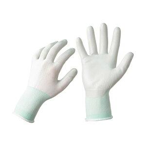 TANOSEE ニトリル 背抜き手袋 M ホワイト/グリーン 1セット(25双:5双×5パック)【日時指定不可】