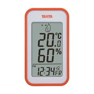 (まとめ)タニタ デジタル温湿度計 オレンジTT559OR 1個【×2セット】【日時指定不可】