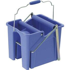 ペダル式 モップ絞り器/掃除道具 【ブルー】 幅31cm 容量14L 樹脂製 耐腐食性 『山崎産業 コンドル スクイザー V』【日時指定不可】
