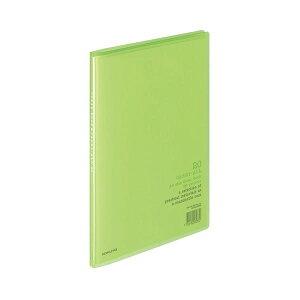 (まとめ)コクヨ クリヤーブック(キャリーオール)固定式 A4タテ 20ポケット 背幅11mm 黄緑 ラ-1LG 1セット(20冊)【×3セット】【日時指定不可】
