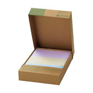 (まとめ)TANOSEEマルチプリンタ帳票(FSC森林認証紙) A4カラー 3面6穴 1箱(500枚)【×3セット】【日時指定不可】