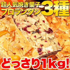 【訳あり】新 フロランタン 3種 どっさり 1kg 人気の高級菓子フロランタンが簡易包装&原料厳選による訳あり3種でご提供 SM00010003