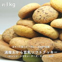 【あす楽】 新感覚 満腹おから豆乳ソフトクッキー 1kg ほろっと柔らか ヘルシー & DIET 応援 ダイエット応援 満腹 満…