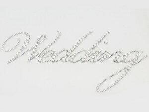 ウェディングデコシート【大】 [Wedding ウエディング] ラインストーン クリスタル/結婚式/ブライダル/スワロフスキー/ウェルカムボード