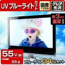 液晶テレビ保護パネル UV・ブルーライトカット【3ミリ重厚】 55型(55インチ) [対応型数: 55型]【光沢 グレア仕様】【…