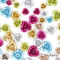 5g【封入パーツ】高品質アルミのバラミックスアソートセットアクセサリー/手芸/メタルパーツ/ハンドメイド/クラフト/素材/材料/UVレジン/薔薇/フラワー