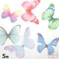 5枚蝶型ソフトチュール生地全6種類