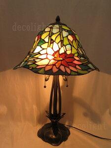 蓮の花 ステンドグラス ランプガレランプ ステンド ガラス ランプ スタンド ライト スタンドランプ テーブルランプ テーブルライト ティファニー ランプ インテリアランプ インテリアライ