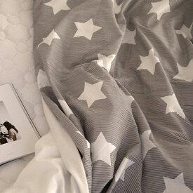 生地 北欧風・布・入園入学≪ Cocoa gray star ≫コットン/幅110cmデコレクションズオリジナル生地・布【10cm単位販売】【男の子】【星】【ポップ】【ベーシック】【ストライプ】【グレー】│ココアグレースター│キッズ