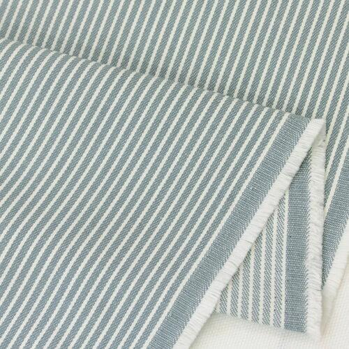 生地・布≪ 28 ヒッコリー 水色地×ホワイト ≫コットン/幅114cmデニム【10cm単位販売】【ストライプ】【ベーシック】【水色】