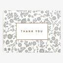 メッセージカード 07 Gray - thank you【グリーティング】【ラッピング】【ミニサイズ】ギフト|贈り物|お祝い|誕生日|バースデー|メモ|結婚|ウ...