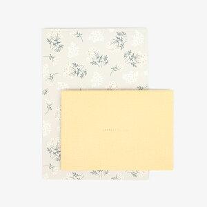 レターセット 05 Lace flower【グリーティング】【ラッピング】お手紙|便箋|便せん|封筒|お祝い|誕生日|バースデー|結婚式|ウェディング|記念日|お礼|ミニレター|大人|おしゃ