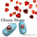 ラインストーン ジルコニア製 グロッシーストーン(Glossy stone) ハート カラーA/カラーB 4mm/5mm/6mm