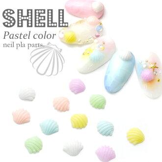 柔和的壳体类零件 / 装饰部分凝胶钉配件壳 6 颜色 5 件钉树脂夏天钉 !
