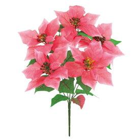ハワイアンポインセチアブッシュ *5(ピンク)【ポインセチアの造花】