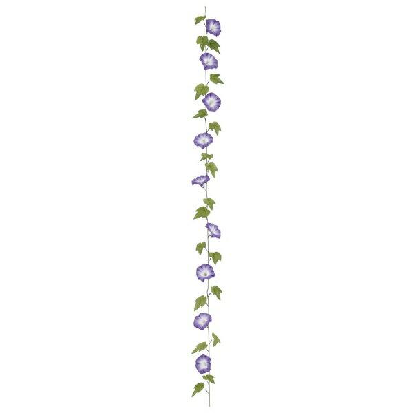 江戸朝顔ガーランド x 9(ワイヤー入)(パープル)【夏の造花・アートフラワー】