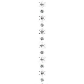 アソートスノーガーランド *13(1本/パック)(グリッター)(ホワイト)(GXM3190WH)[アソートスノーガーランド クリスマス ガーランド デコレーション 装飾 飾り]