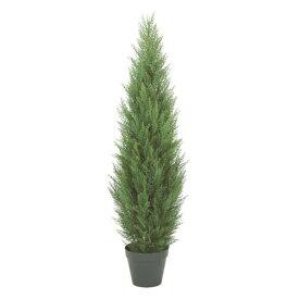 120cmクレストツリー(プラスチック)【自立型・ゴールドクレストのフェイク(人工樹木)】【屋外対応】