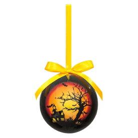 75mmハロウィンボール(ホーンテッドハウス)(4ケ/パック)(OXM1372)[クリスマス デコレーション 飾り オーナメント ハロウィンボールホーンテッドハウス ボール 球 玉 ハロウィン ハロウィーン]
