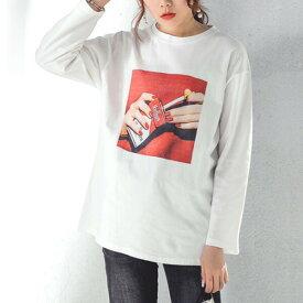 【即納あり】タバコ ボックスロゴ ジャストサイズ 白 長袖 Tシャツ カットソー トップス ダンス 衣装 ヒップホップ コスチューム 韓国ファッション 個性的 服 原宿系
