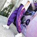 ボトムス ジョガーパンツ ジャージーパンツ サイドライン テキスト ロゴ ウエストゴム スポーティ ダンス 衣装 ヒップ…