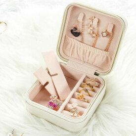 【即納あり】アクセサリーボックス コンパクト BOX 無地 光沢 ツヤ ホワイト ブラック 韓国ファッション 個性的 服 原宿系