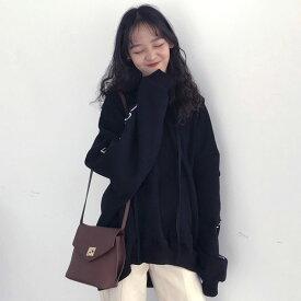 【即納あり】シンプルなデザインがマルチに活躍するスリーブプリントビッグシルエットパーカー/フーディ ダンス 衣装 ヒップホップ コスチューム 韓国ファッション 大きいサイズ 個性的 服 原宿系
